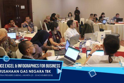 PT Perusahaan Gas Negara – Advance Excel & Infographics for Business